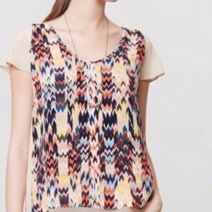 Anthropologie Maeve Silk Blouse Size Medium